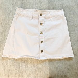 Altar'd State White Button Front Mini Skirt